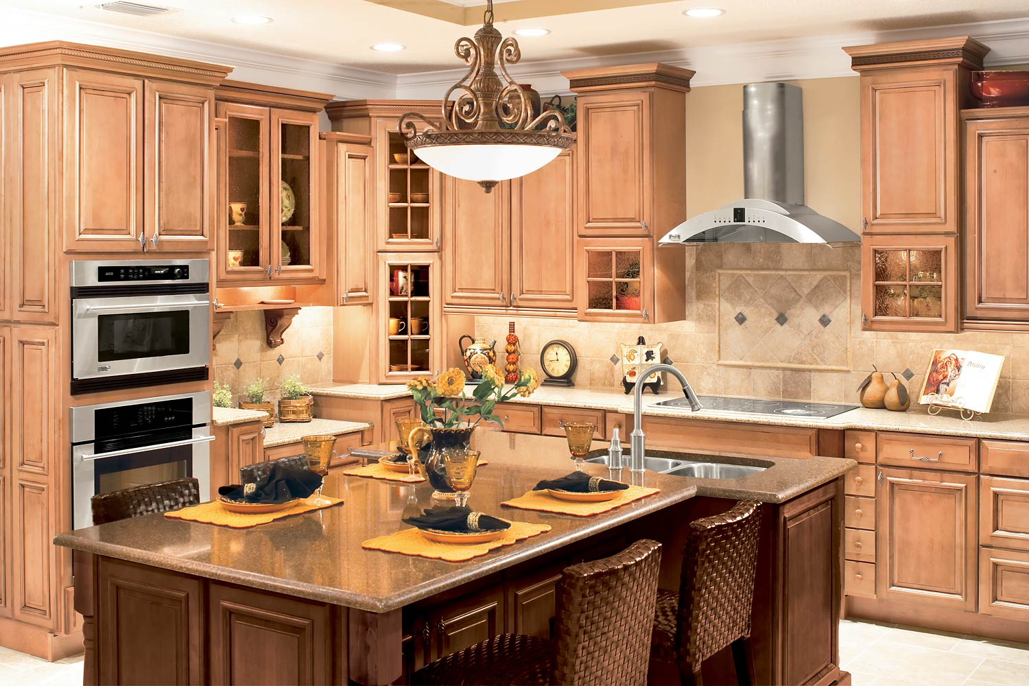 Simple american kitchen design - Fashion American Style Kitchen