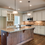 antiqued white cabinets