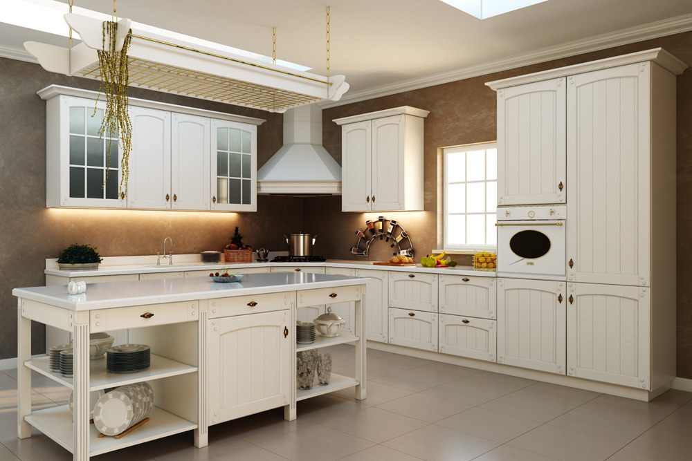 How to pick the best color for kitchen cabinets home and for White kitchen colour schemes