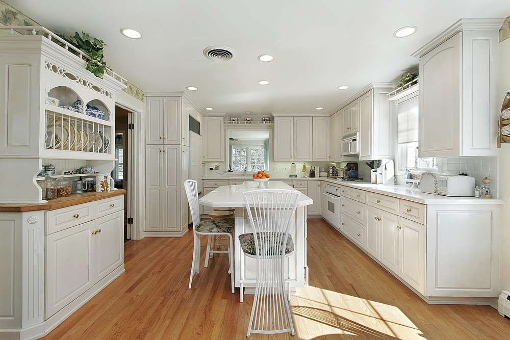 White kitchen cabinets color