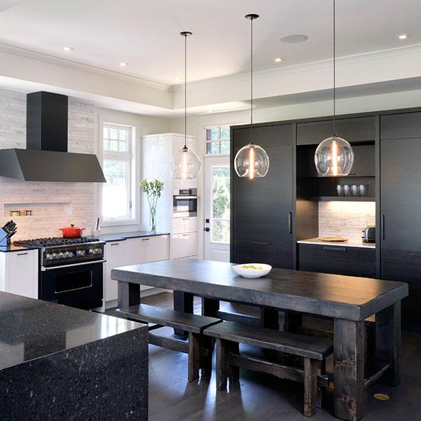 Pros and cons of black pearl granite countertops home for Black and white kitchens photos