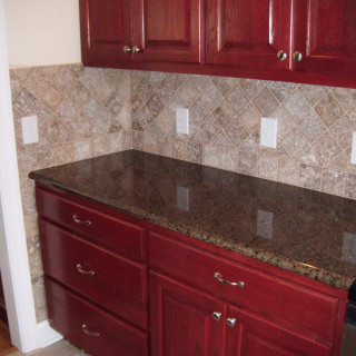 dark brown granite countertops