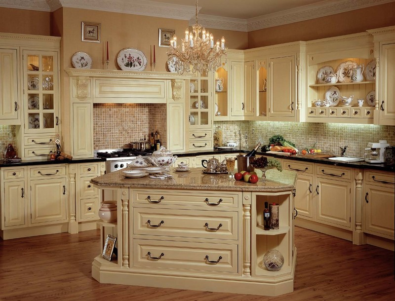 Tips for creating unique country kitchen ideas home and - Country style kitchen cabinets ...
