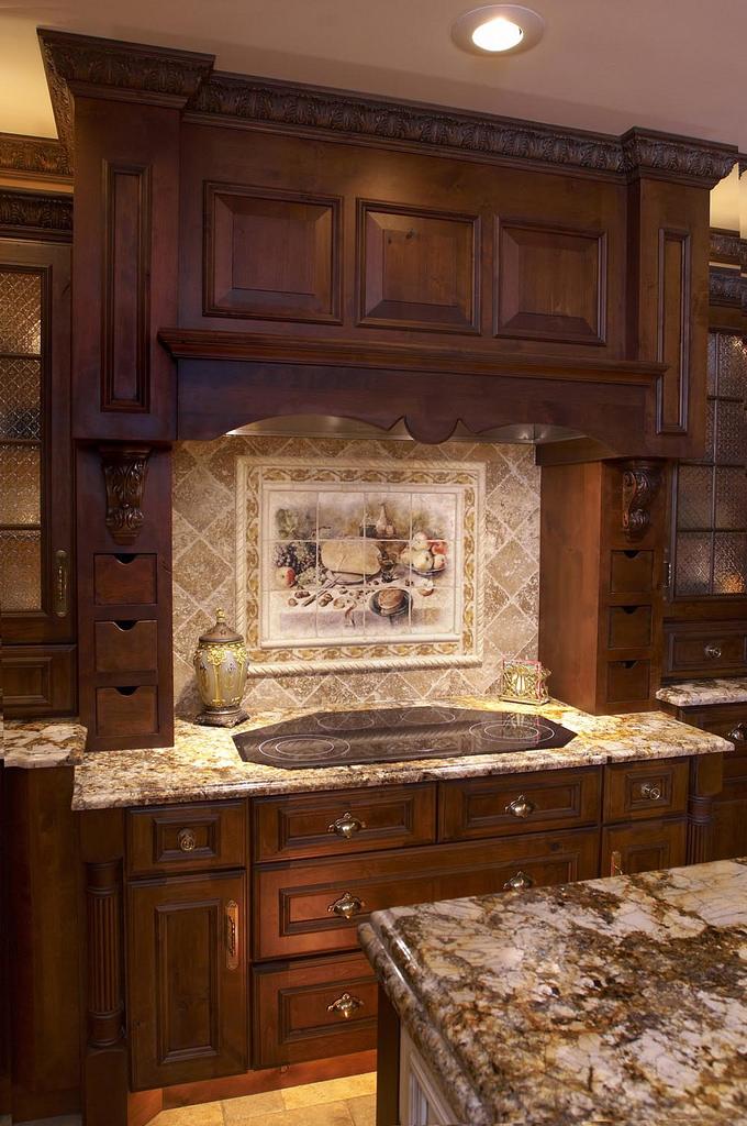 Kitchen Backsplash Idea For Dark Cabinets. Dark Cabinet Kitchen Ideas