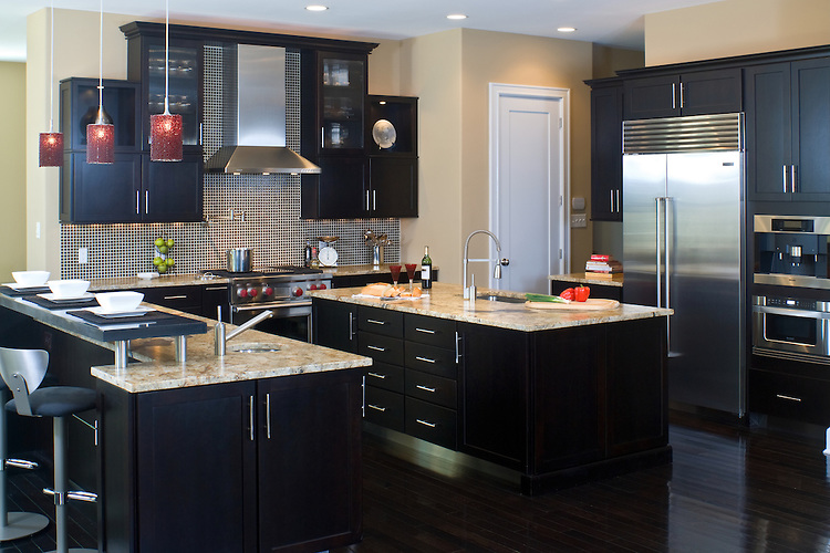 The Designs For Dark Cabinet Kitchen Home And Cabinet Reviews - Wall color ideas for kitchen with dark cabinets