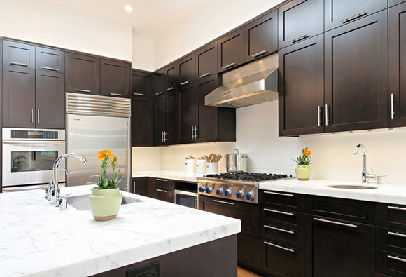 the designs for dark cabinet kitchen | home and cabinet reviews