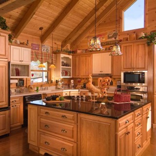 log cabin kitchen designs