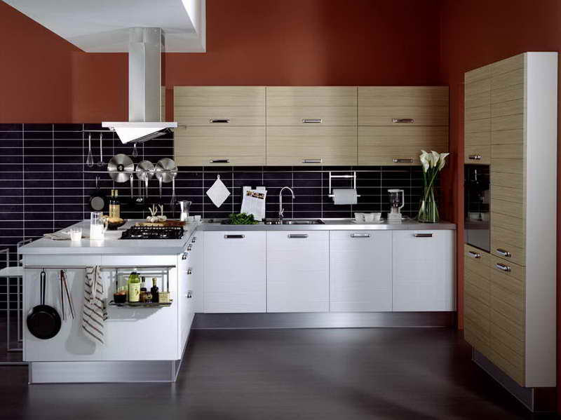 The luxury kitchen with white color cabinets home and for Kitchen wall colors with white cabinets