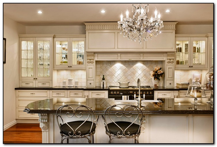 Superb French Country White Kitchen Cabinets