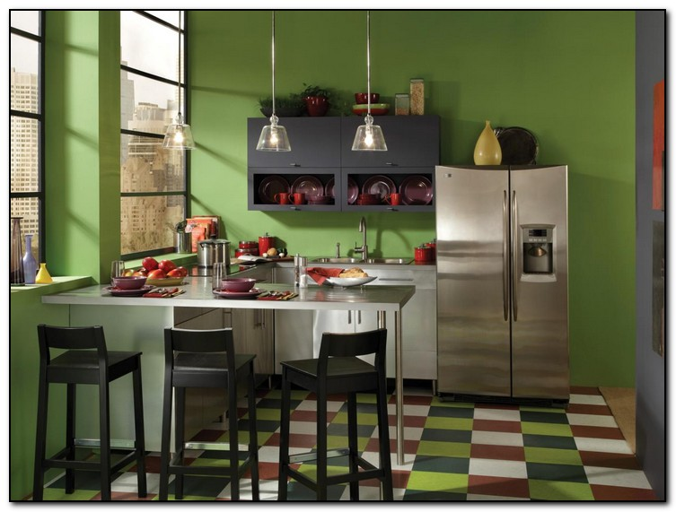 green paint colors for kitchen walls