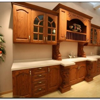 kitchen color schemes with oak cabinets