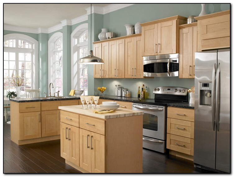 employing light color theme in kitchen cabinets design ForLight Colored Kitchen Cabinets