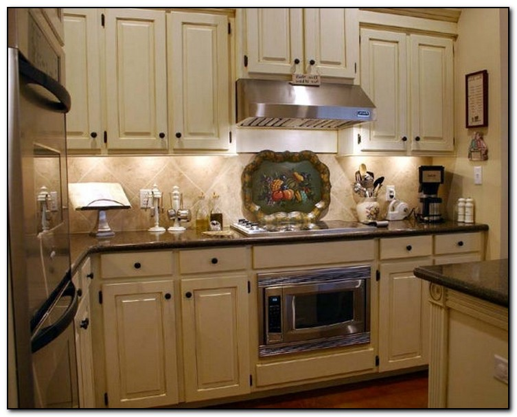 Cherry kitchen cabinets with taupe walls sage green for Kitchen wall cupboards