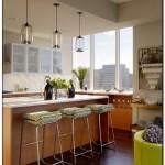 kitchen with pendant lighting over island