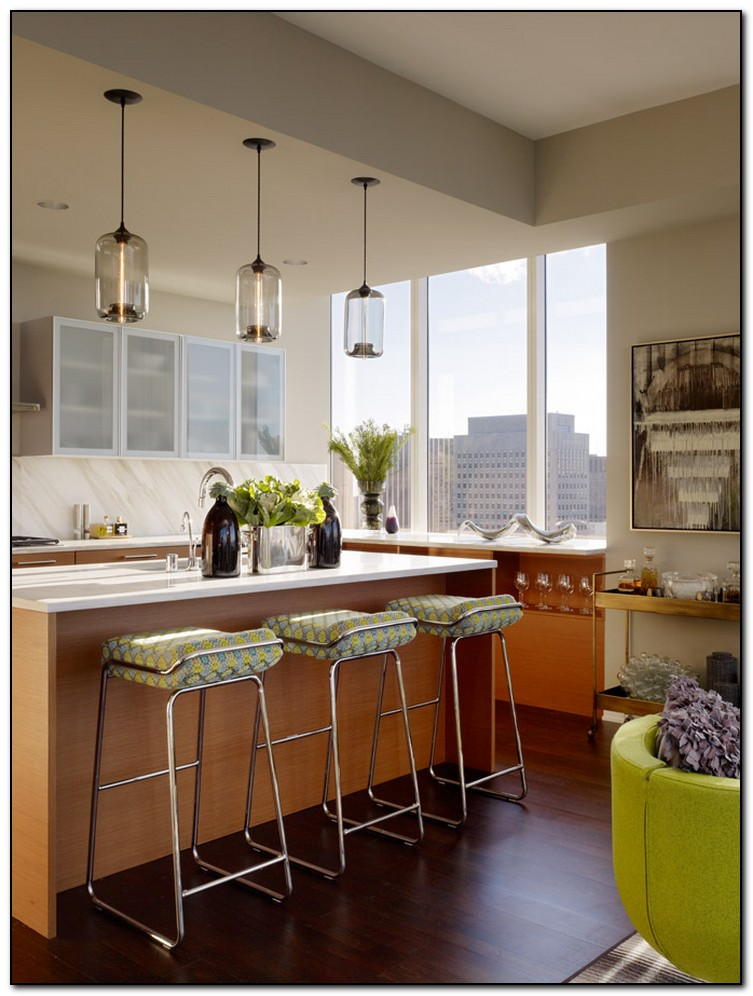Recommended light green kitchen for you home and cabinet for Pendant lighting for island kitchens