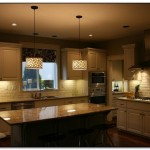 lighting fixtures over kitchen island