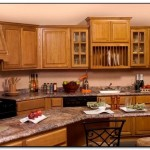 medium oak cabinets with granite countertops