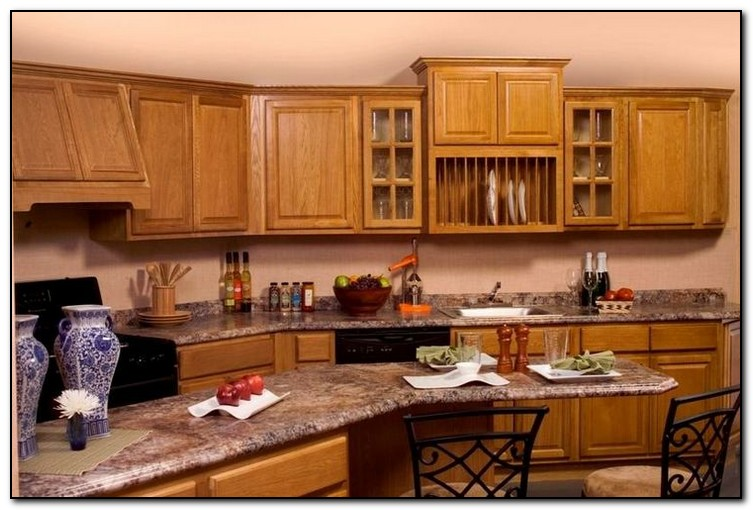 Kitchen Paint Colors With Medium Oak Cabinets
