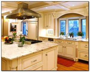 oak cabinets with granite countertops pictures