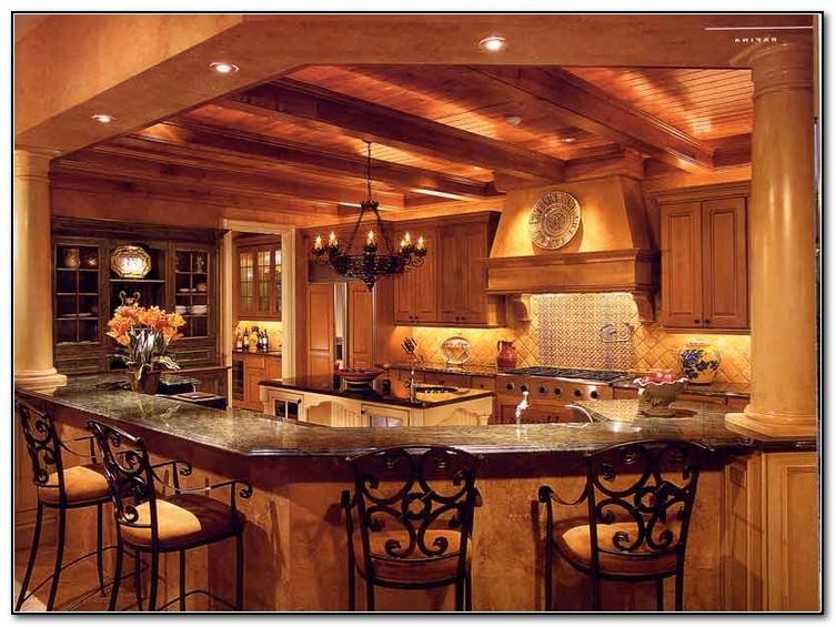 Old design for home home and cabinet reviews Old world tuscan kitchen designs