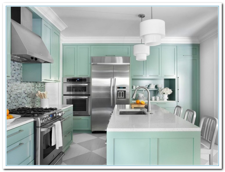 Inspiring painted cabinet colors ideas home and cabinet reviews - Kitchen colors for ...