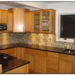 pictures of oak cabinets with granite countertops