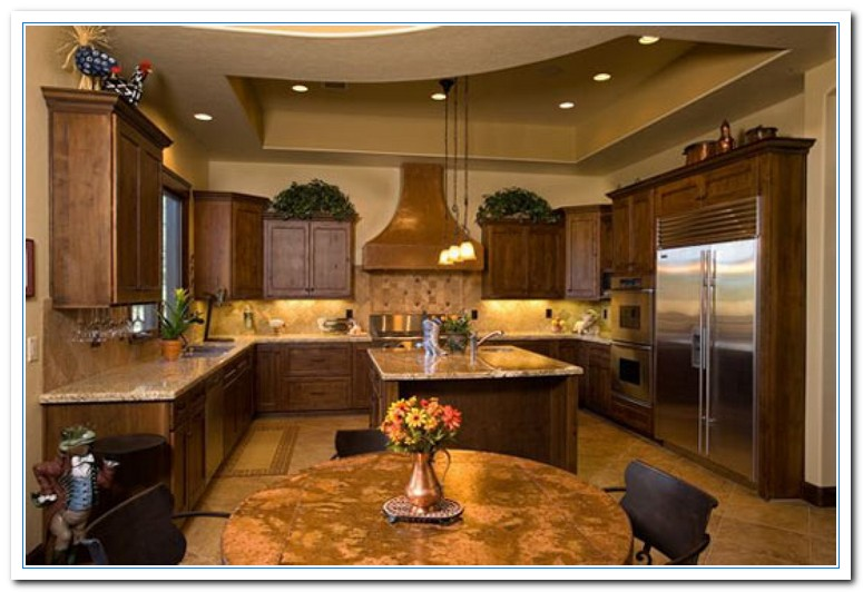Rustic kitchen design home and cabinet reviews for Small kitchen design ideas photo gallery
