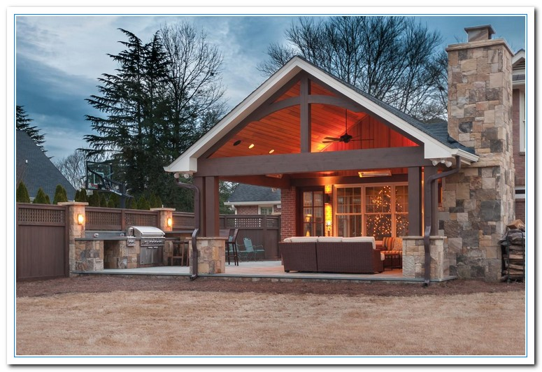 Rustic kitchen design home and cabinet reviews for Rustic outdoor kitchen ideas