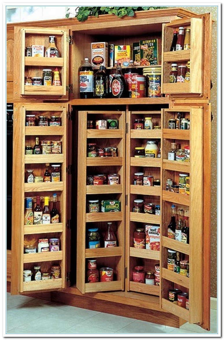 Small kitchen pantry cabinet for Kitchen pantry cabinet plans