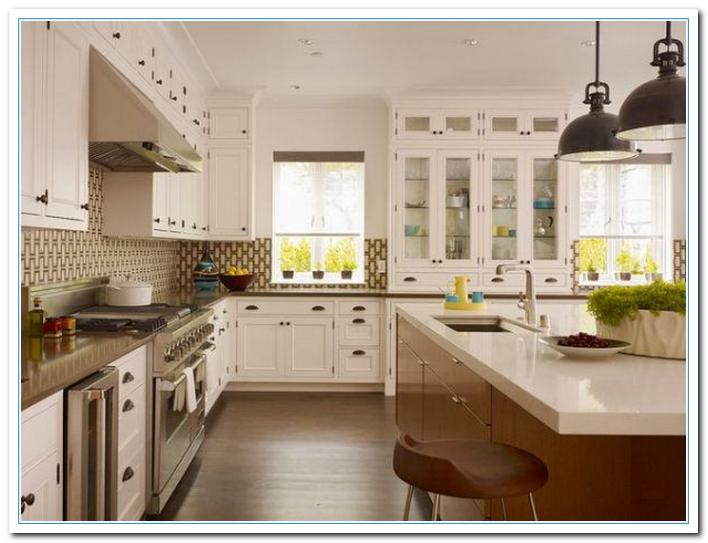 Small kitchen pictures for color scheme choice home and - Small white kitchen ideas ...