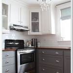 two tone kitchen cabinet