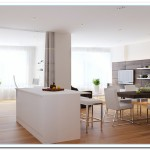 walnut and white kitchen