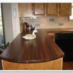 walnut kitchen countertop