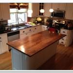 walnut kitchen island