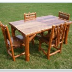 walnut kitchen table and chairs