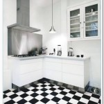 black and white checkered kitchen floor