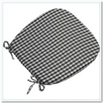 black and white kitchen chair cushions