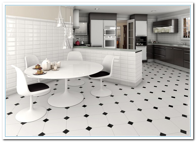 Learn about white alaska granite home and cabinet reviews for Black and white tile floors