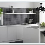 black and white kitchen wall tiles