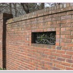 brick wall fence design