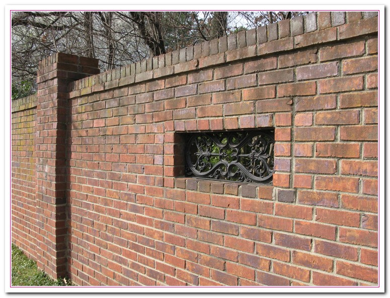 brick wall fence design - Brick Wall Fence Designs