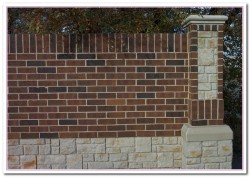 brick wall fence designs