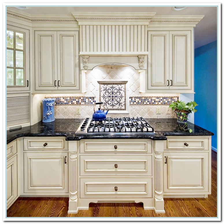White Kitchen Cabinets And Countertops: White Cabinets Dark Countertops Details