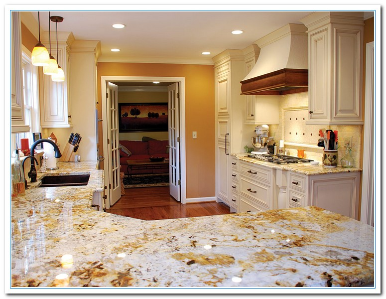 White cabinets with granite countertops home and cabinet for Choosing kitchen colors