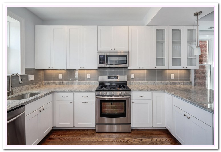 White-Colored Kitchen And Granite Countertop Selection | Home and ...