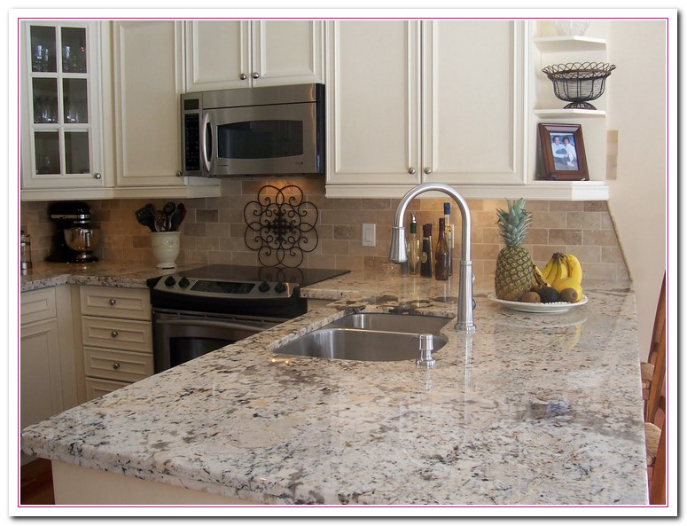 Working on White Granite Countertop for Luxury Kitchen ...