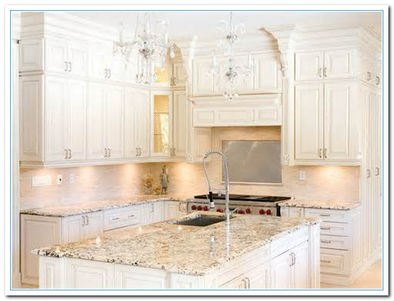 White cabinets with granite countertops home and cabinet for White kitchen cabinets with white marble countertops
