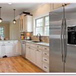 pictures of white kitchens with stainless steel appliances