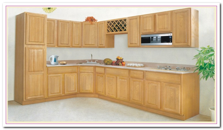 Wood cabinet and its countertops home and cabinet reviews for Solid wood kitchen cabinets