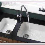 undermount white kitchen sink